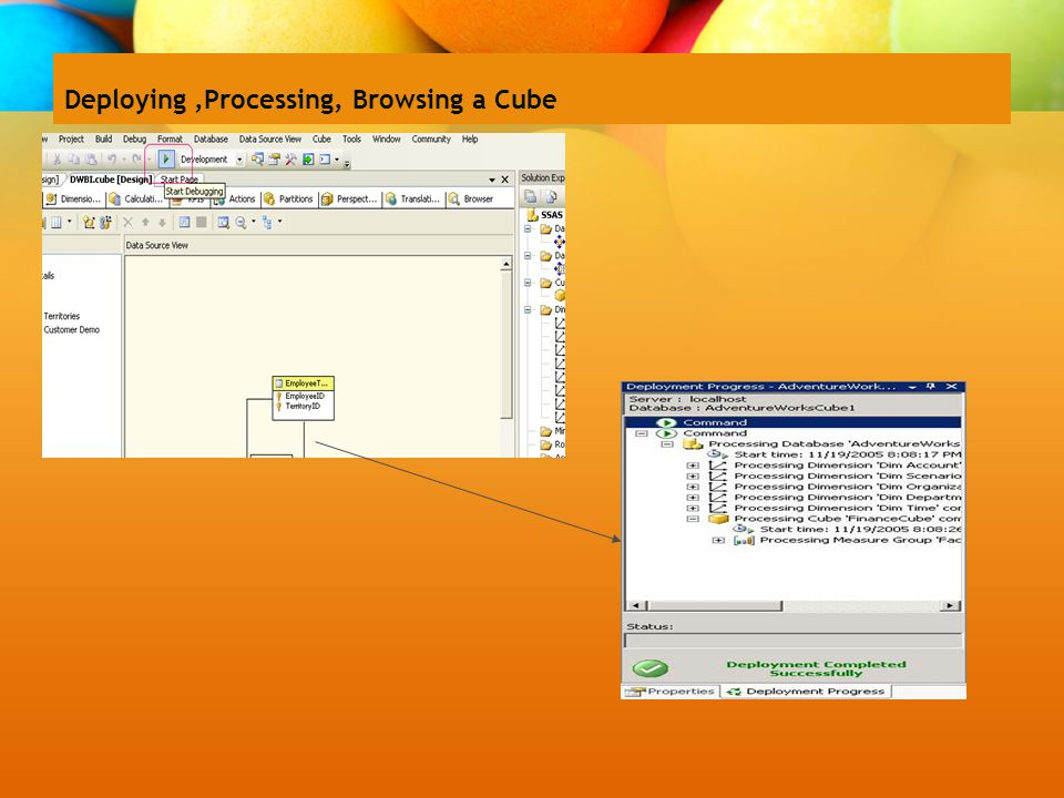 Deploying,Processing, Browsing a Cube