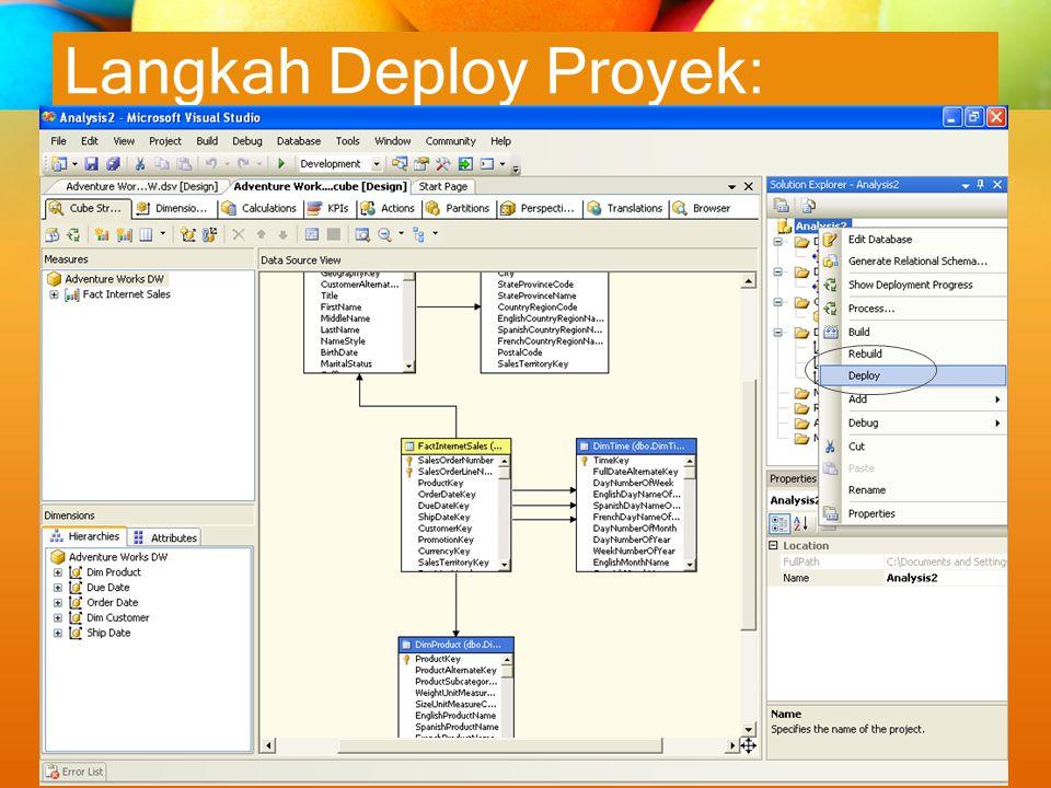 Langkah Deploy Proyek: