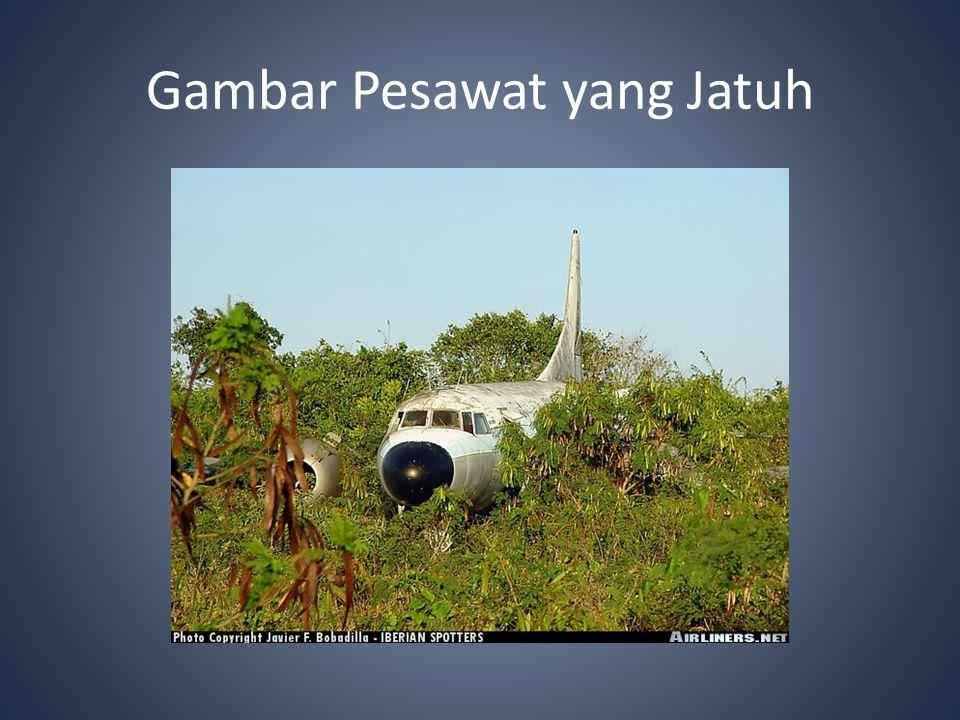 Gambar Pesawat yang Jatuh