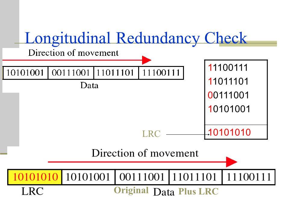 """Contoh VRC (cont..) Andaikan perkataan """"world"""" yg diterima oleh penerima mempunyai ralat selama transmisi. Penerima mengira bit 1 dalam setiap aksara"""