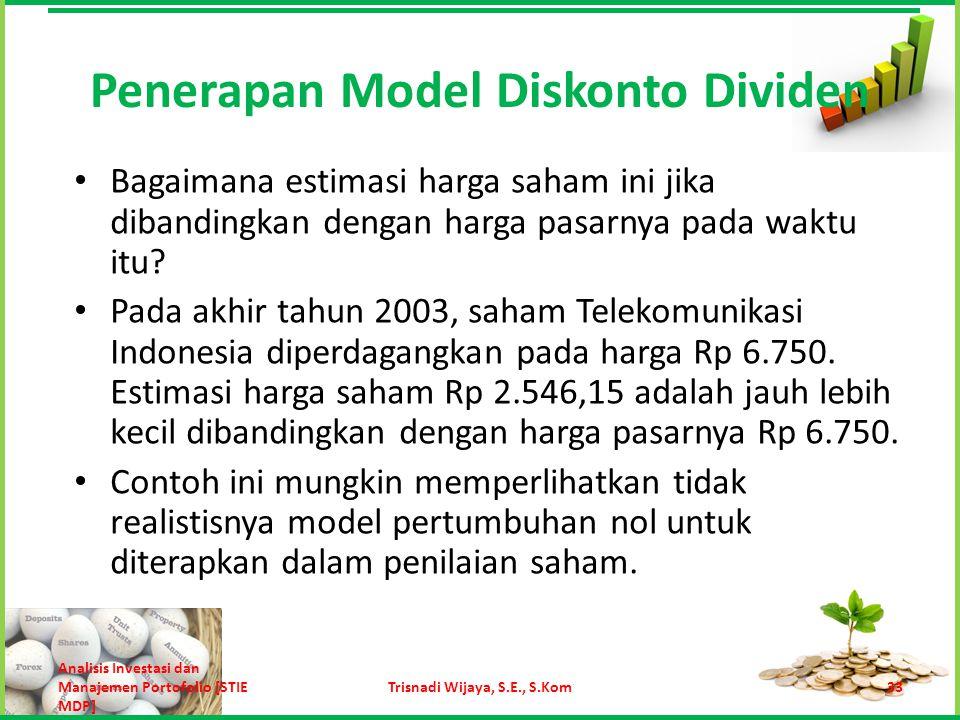 Pada tahun 2003 PT Telekomunikasi Indonesia Tbk membagikan dividen Rp 331 per lembar saham.