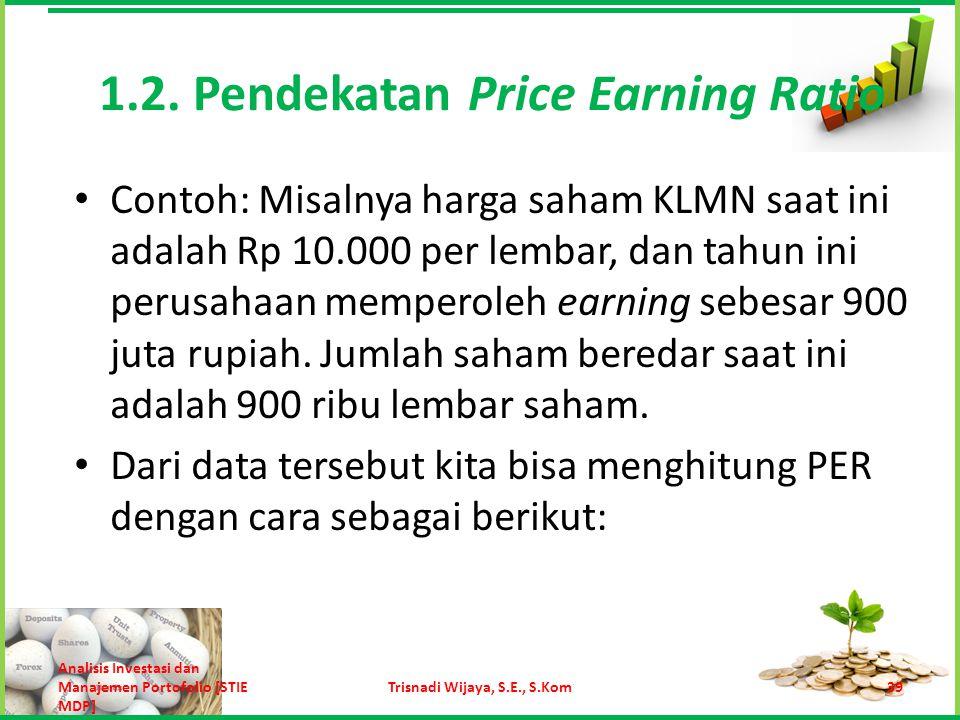 Menghitung earning per lembar saham KLMN.