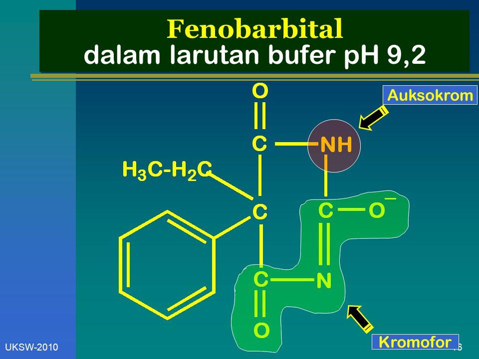 16UKSW-2010 Fenobarbital dalam larutan bufer pH 9,2 Kromofor Auksokrom