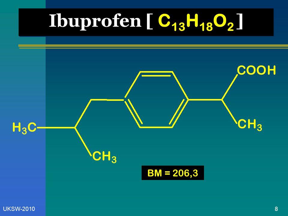 9UKSW-2010 PK. Ibuprofen Spektro UV Pelarut ( 265 nm ) Air-basa18,5
