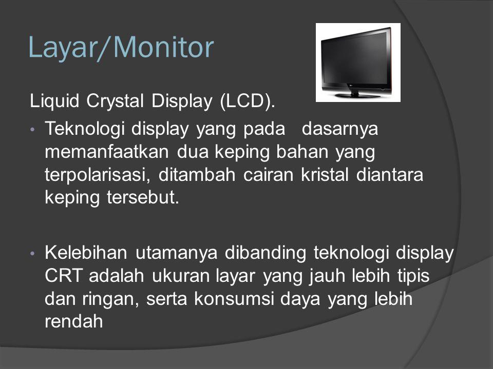 Layar/Monitor Light Emitting Diode (LED).