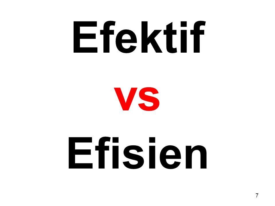 Efektif vs Efisien 7