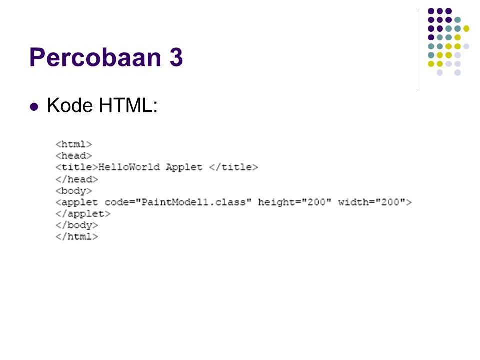 Kode HTML: