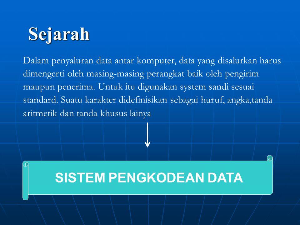 Dalam penyaluran data antar komputer, data yang disalurkan harus dimengerti oleh masing-masing perangkat baik oleh pengirim maupun penerima.