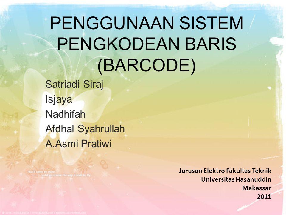 Keterangan Barcode Number System Character Angka ini merupakan sebuah sistem bilangan barcode UPC yang mengkarakterisasikan jenis-jenis khusus pada barcode.
