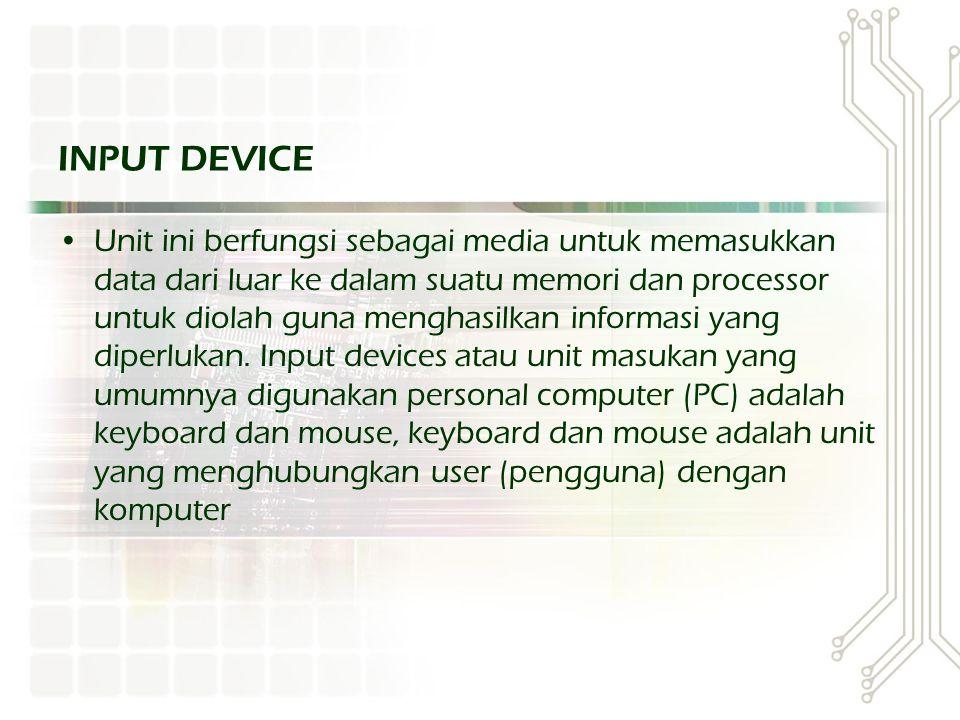 PERALATAN INPUT BERDASARKAN SIFAT Peratalan input langsung Input yang dimasukkan langsung diproses oleh alat pemroses.