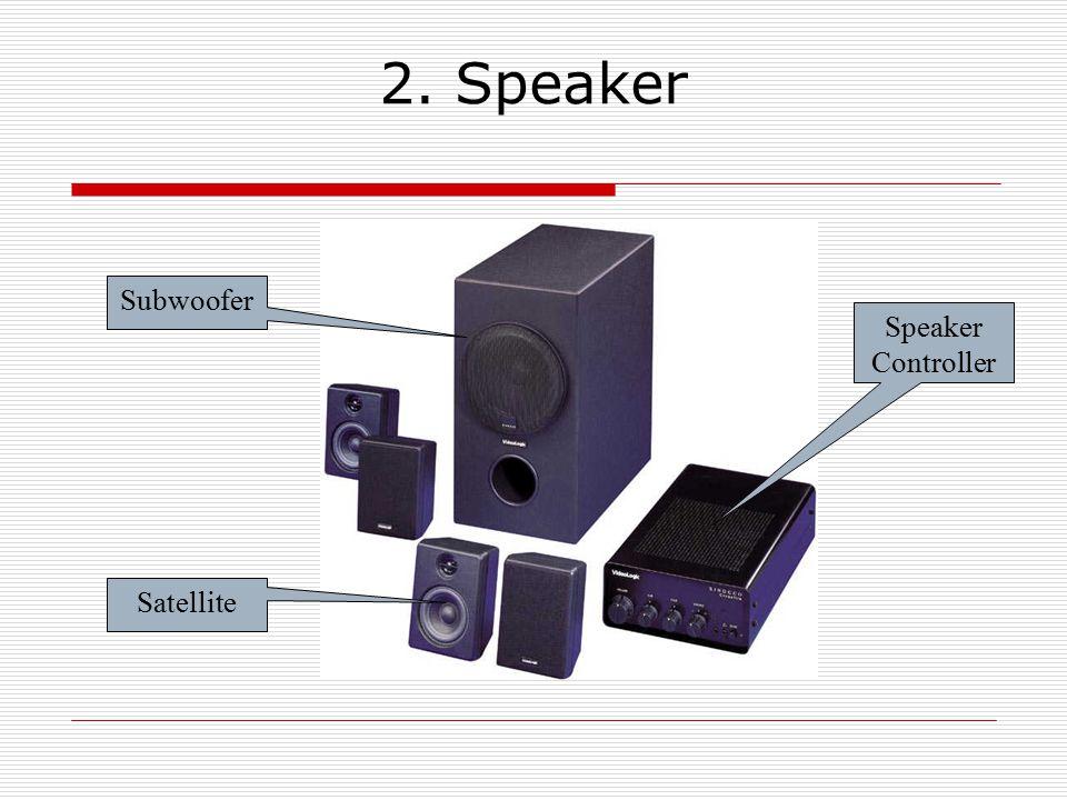 2. Speaker Subwoofer Satellite Speaker Controller