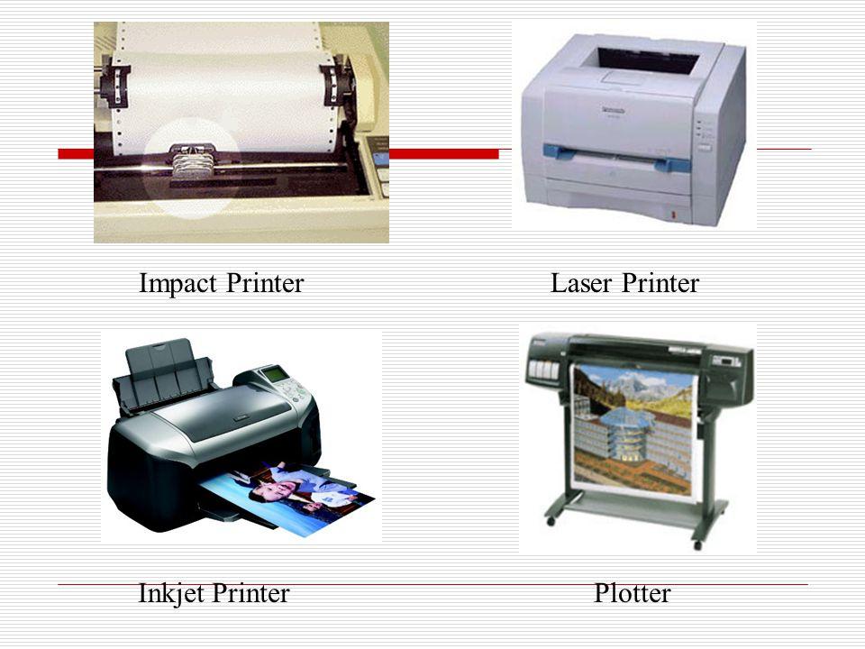 Impact PrinterLaser Printer Inkjet PrinterPlotter