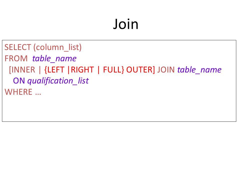 LEFT JOIN SELECT i.description, s.quantity FROM item i LEFT JOIN stock s ON i.item_id = s.item_id; Menampilkan seluruh baris pada tabel yang disebut pada bagian kiri, tetapi menampilkan nilai null untuk setiap kolom yang tidak terdapat relasinya pada tabel sisi kanan