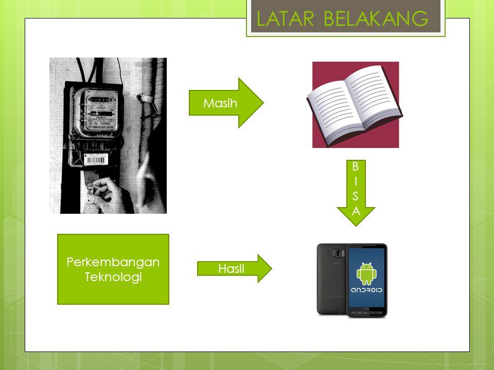 LATAR BELAKANG Perkembangan Teknologi Masih Hasil BISABISA