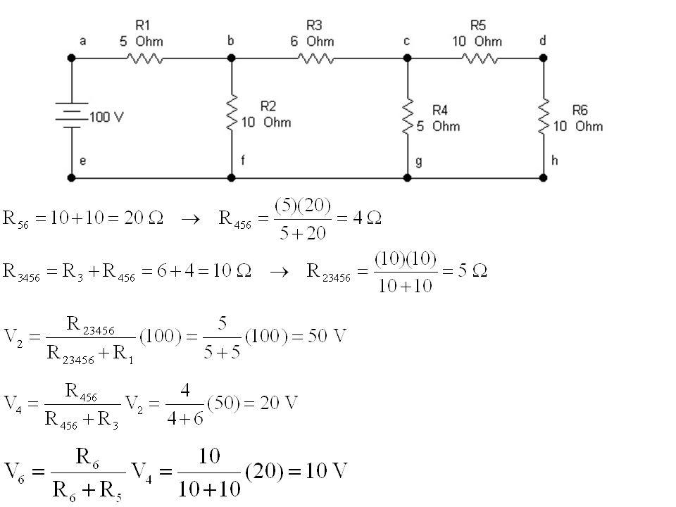 R1R1 R2R2 R3R3 I3I3 I1I1 I2I2 V1V1 V2V2 V3V3 I V I R 123 V HUBUNGAN PARALEL DAN PEMBAGIAN ARUS Seri : Tegangan sama dan arus dibagi-bagi