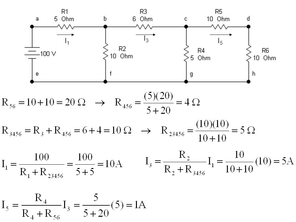 HUKUM KIRCHOFF Hukum Kirchoff Arus (HKA) : Jumlah arus pada suatu titik cabang selalu nol Hukum Kirchoff Tegangan (HKT): Jumlah tegangan pada suatu simpal (loop) selalu nol V1V1 V2V2 V3V3 R1R1 R2R2 R3R3 R4R4 R5R5 I6I6 I4I4 R6R6 I1I1 I2I2 I5I5 I3I3 A BC D E G H F Titik cabang : 4 Simpal : 7 Variabel tak diketahui : 5 HKA  HKT
