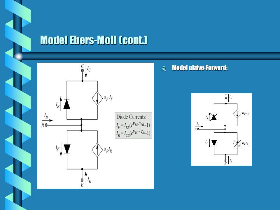 Model Ebers-Moll (cont.) b Model aktive-Forward: