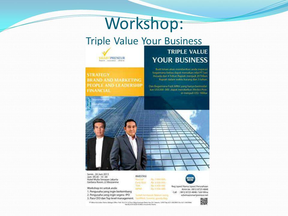 Workshop: Triple Value Your Business