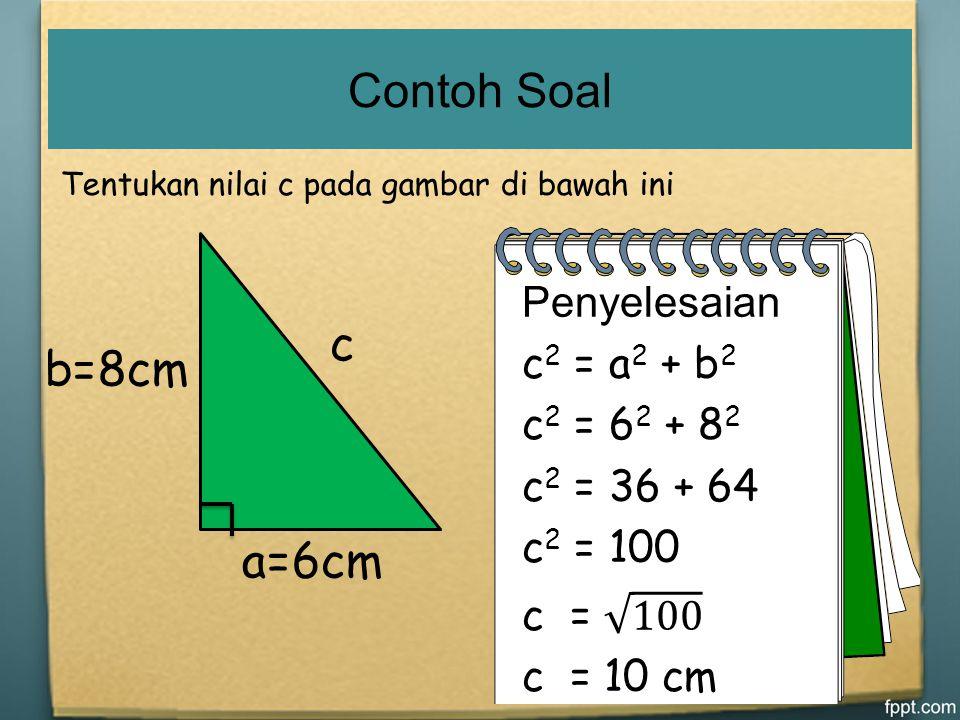 a b c a b c a b c a b c c 2 = a 2 + b 2 Teorema Phytagoras
