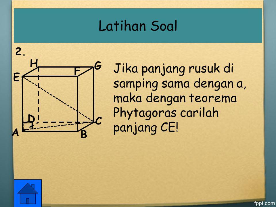 1.Tuliskan rumus Phytagoras untuk segitiga berikut, kemudian tentukan x. p x a a. r + s p + qx b. Latihan Soal