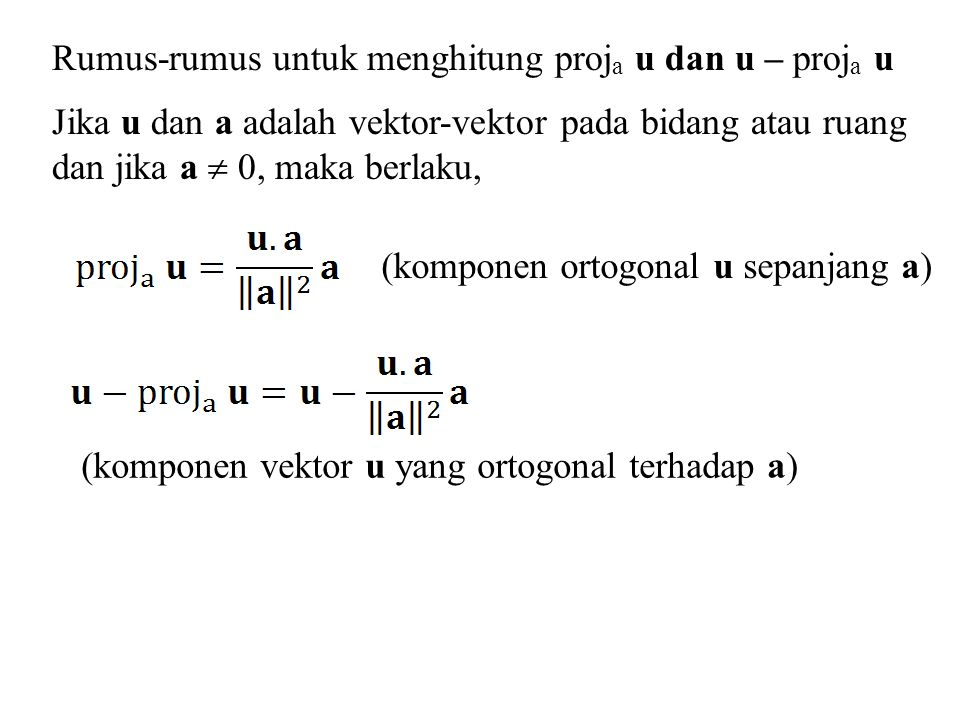 Interpretasi Geometrik dari Determinan Nilai absolut dari = luas jajaran genjang pada ruang berdimensi 2 yang dibatasi oleh vektor-vektor u = (u 1, u 2 ) dan v = (v 1, v 2 ) y x O v u (u 1, u 2 ) (v 1, v 2 )