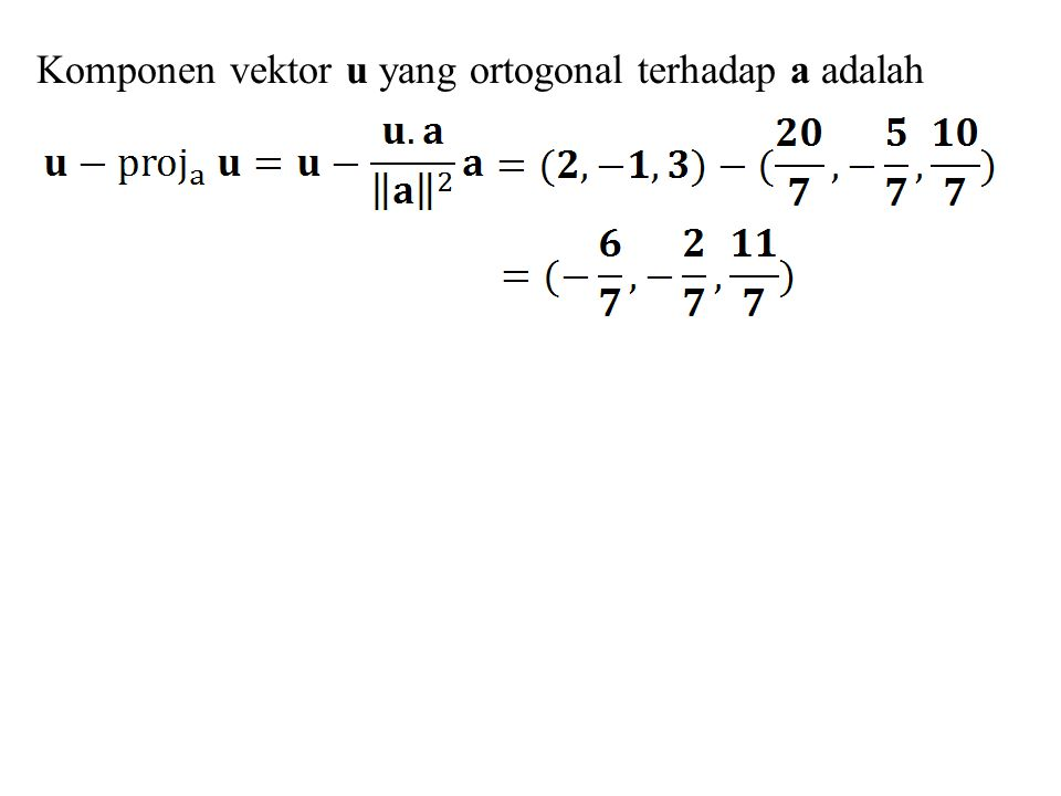 y x ax + by + c = 0  P 0 (x 0, y 0 )  Q(x 1, y 1 ) D D n(a, b) Misal Q(x 1, y 1 ) adalah sembarang titik pada garis ax + by + c = 0 dan titik awal vektor n(a, b) berimpit dengan titik Q.