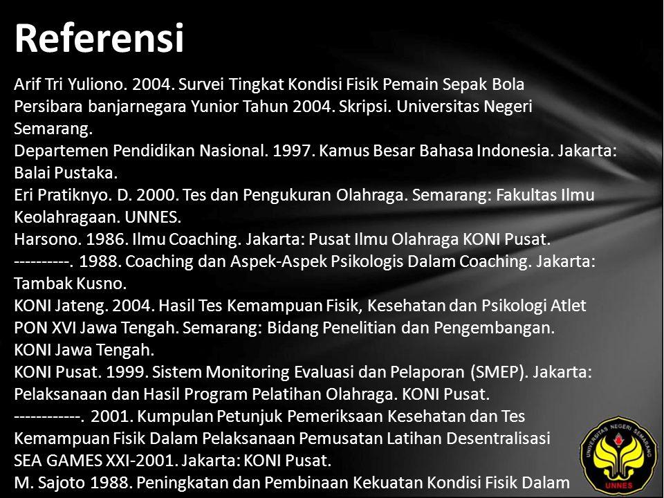 Referensi Arif Tri Yuliono. 2004.