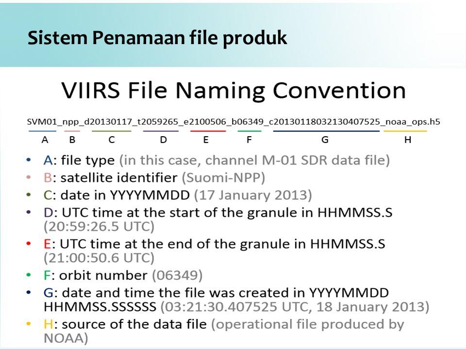 Sistem Penamaan file produk