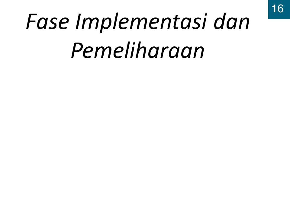 16 Fase Implementasi dan Pemeliharaan