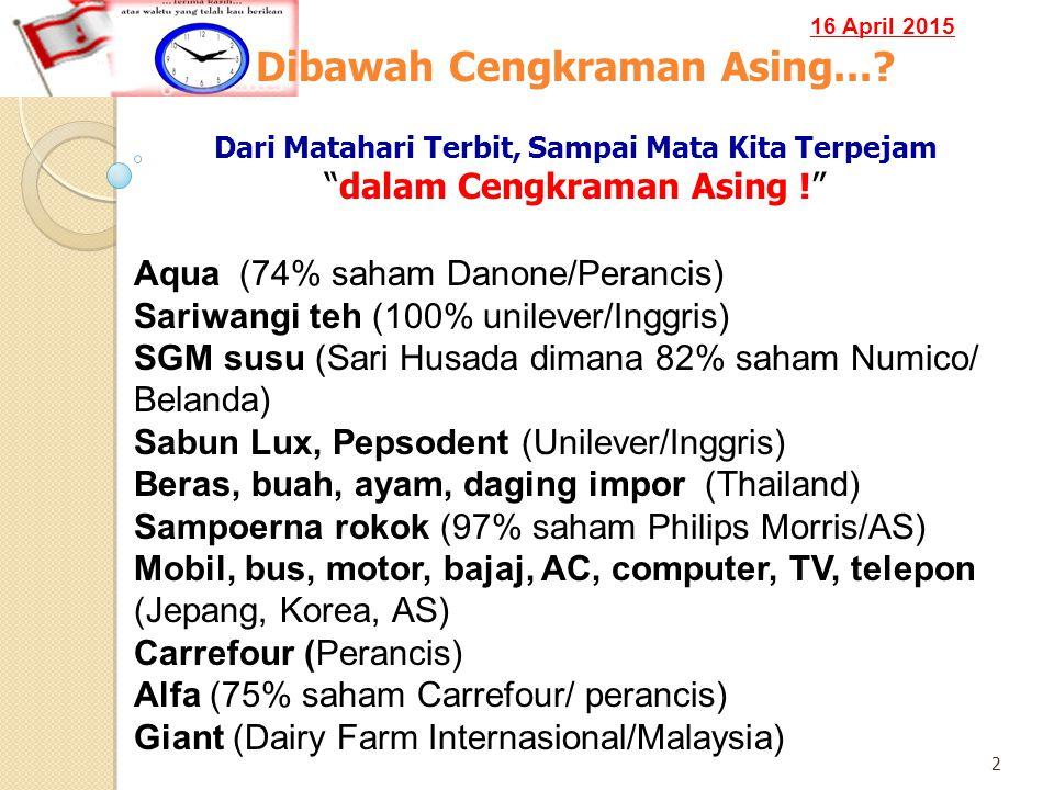 16 April 2015 2 Dibawah Cengkraman Asing....