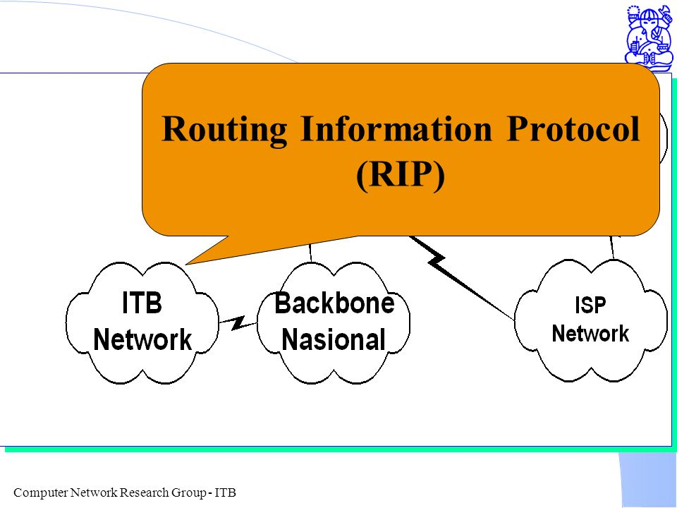 Computer Network Research Group - ITB Routing Information Protocol (RIP)