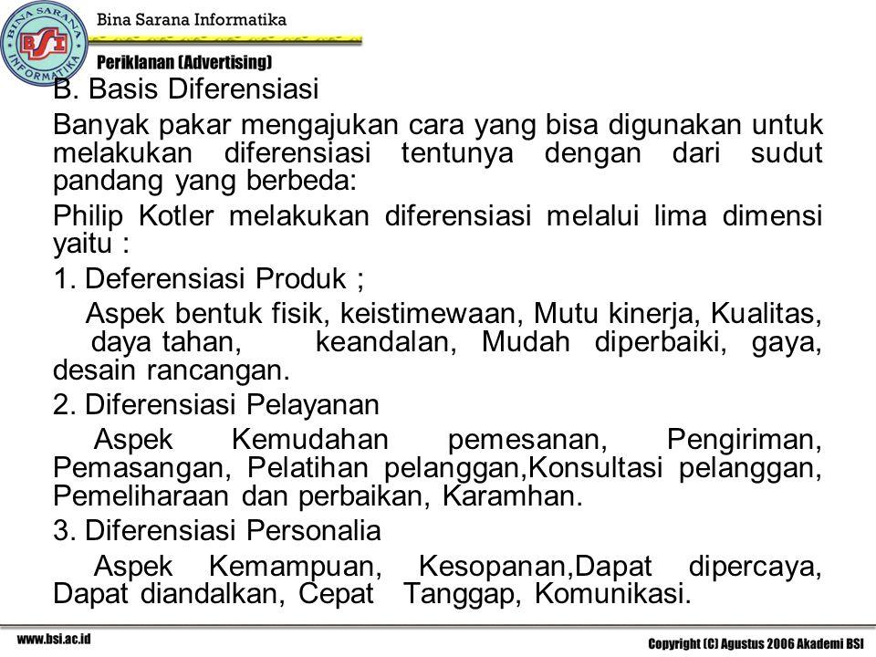 4.Diferensiasi Saluran - Aspek Cakupan(jangkauan), Keahlian, Kinerja 5.