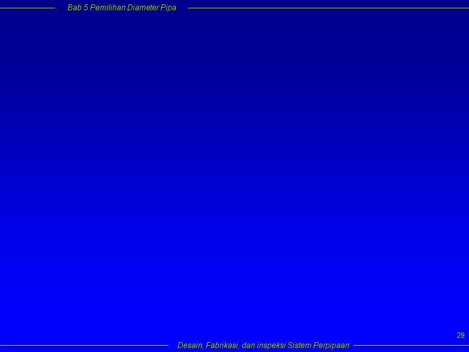 Bab 5 Pemilihan Diameter Pipa Desain, Fabrikasi, dan inspeksi Sistem Perpipaan 29