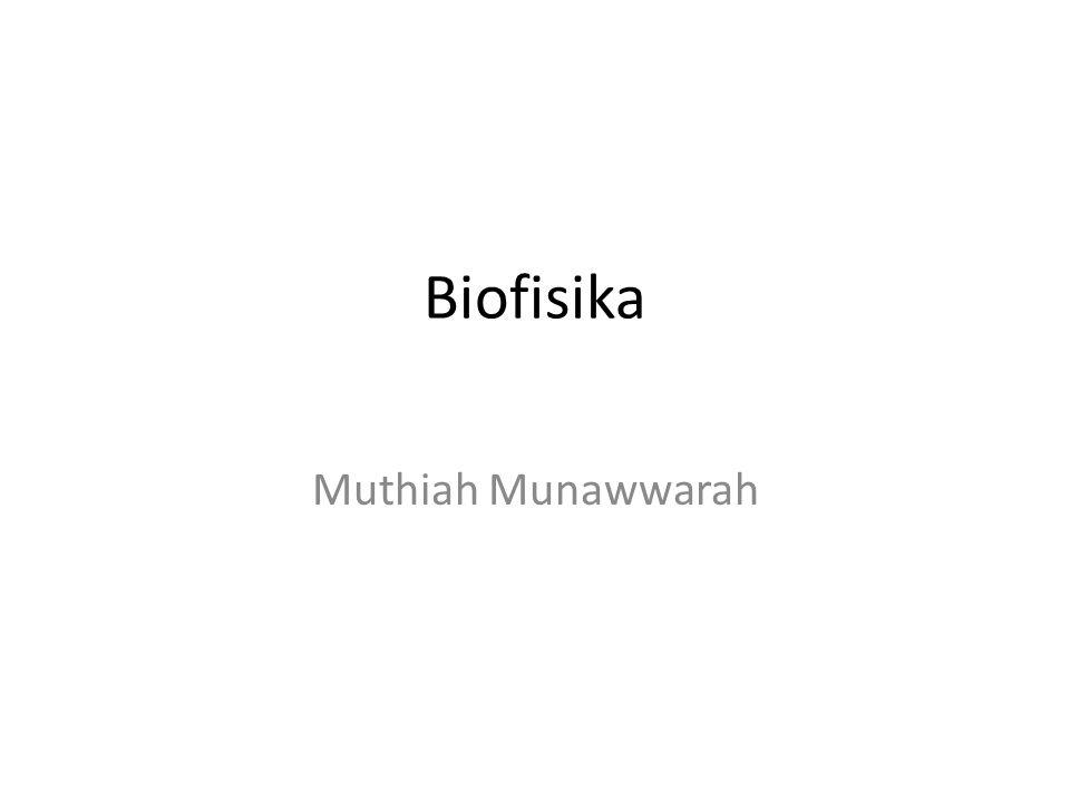 Biofisika ilmu interdisipliner yang menggunakan dan mengembangkan teori dan metode fisika untuk di terapkan sistem biologi