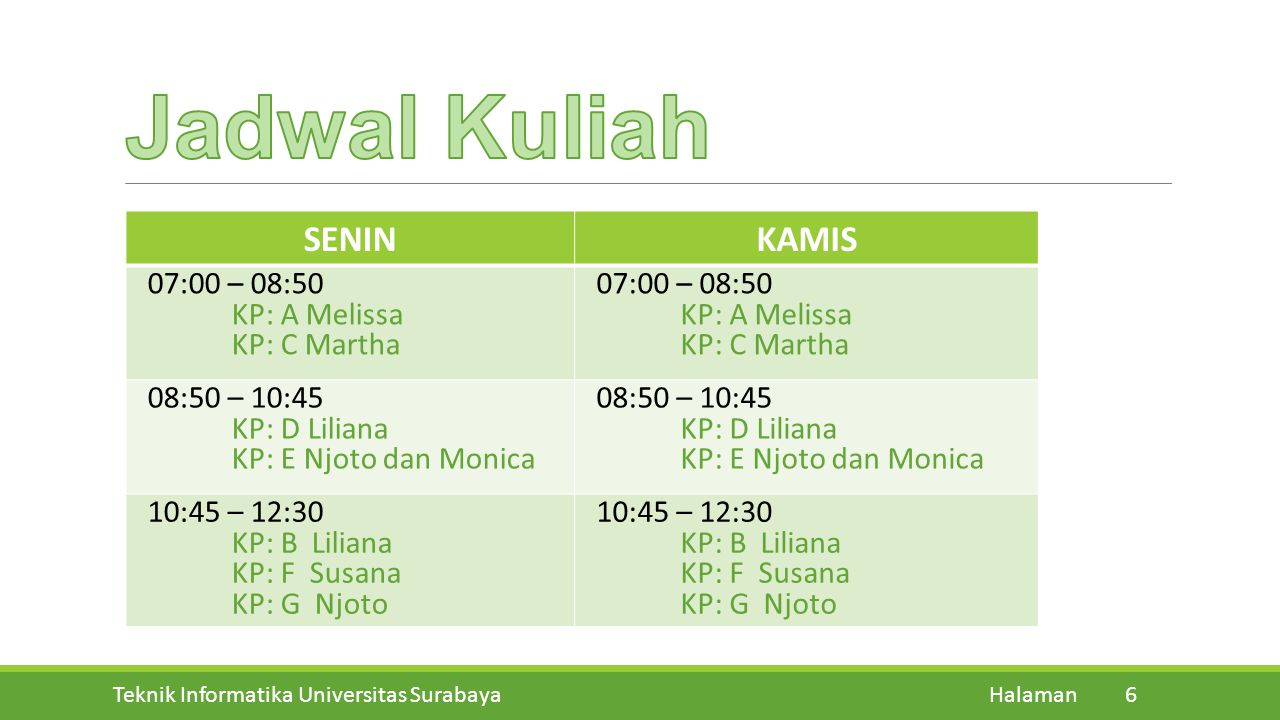 Teknik Informatika Universitas Surabaya Halaman 15