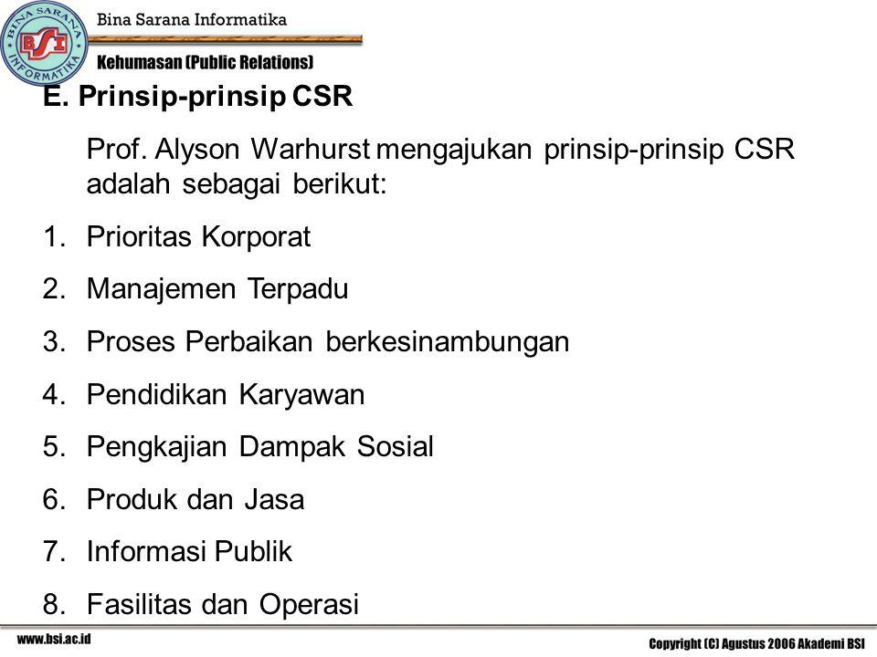 E.Prinsip-prinsip CSR Prof.