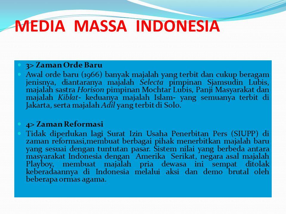 MEDIA MASSA INDONESIA Media Elektronik A.