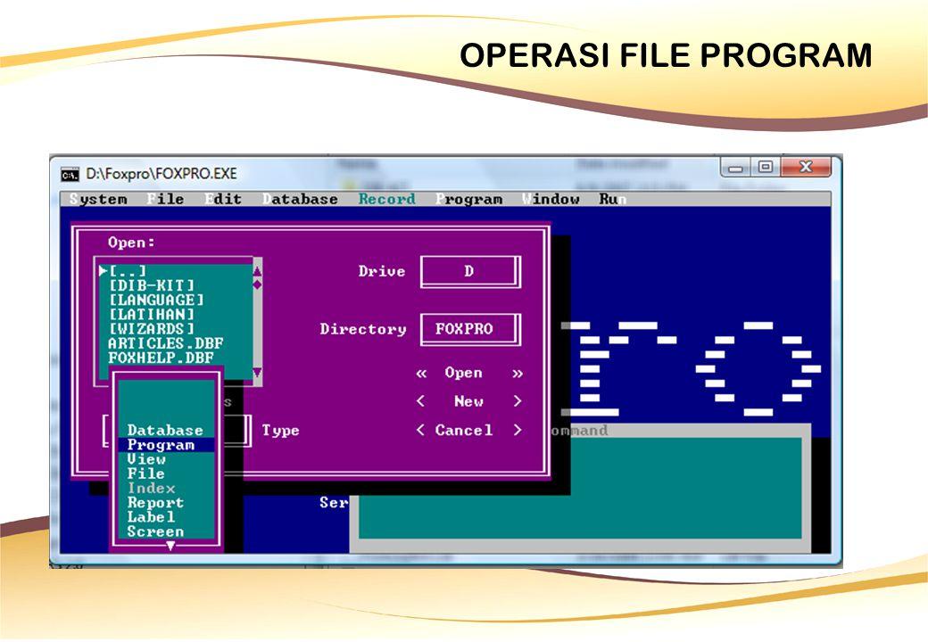 Penggunaan @GET … READ GET dipakai untuk menampilkan bidang pengisian data setelah perintah SAY.