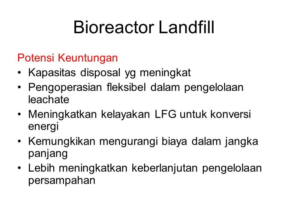 Bioreactor Landfill Definisi Sanitary landfill yang dioperasikan ditujukan untuk stabilisasi cepat dari sampah organik sampah yang dapat terdekomposis