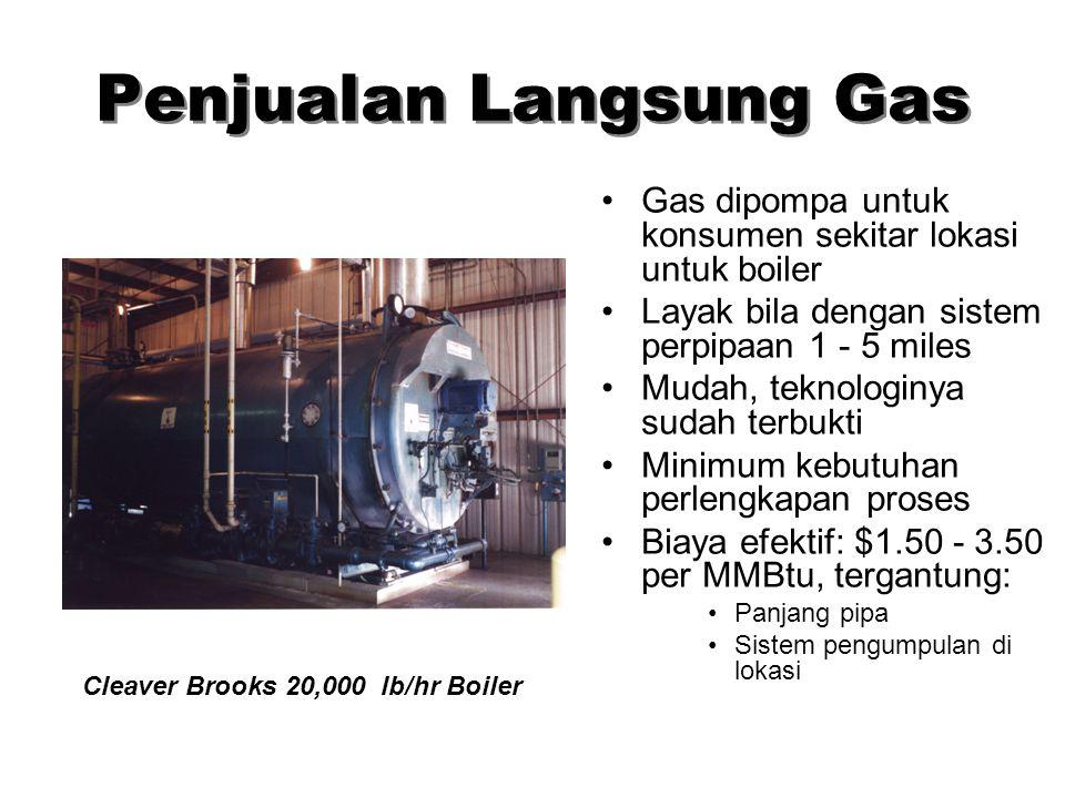Pemanfaatan LFG LFG dapat digunakan dalam berbagai bentuk: –Bahan bakar boiler –Produksi listrik –Evaporasi leachate –Memanaskan rumahkaca –Bahan baka