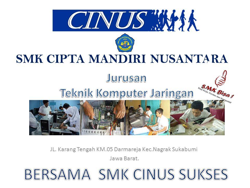 SMK CIPTA MANDIRI NUSANTARA JL. Karang Tengah KM.05 Darmareja Kec.Nagrak Sukabumi Jawa Barat.