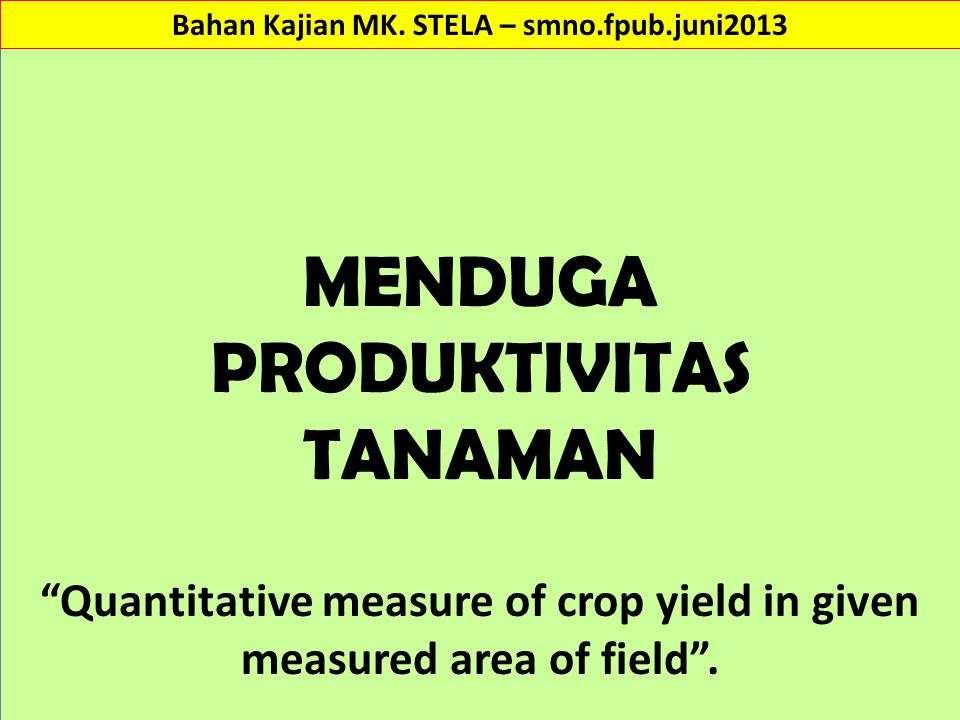 Crop Forecasting by using Crop-Yield Weather Regression Model M.
