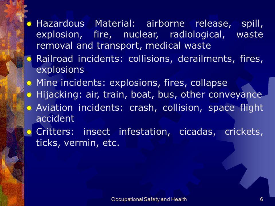 Occupational Safety and Health106 Aspek Lingkungan Limbah berbahaya dan beracun Limbah yang tidak Berbahaya Limbah rumahtangga