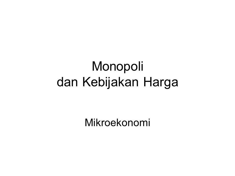 Monopoli dan Kebijakan Harga Mikroekonomi