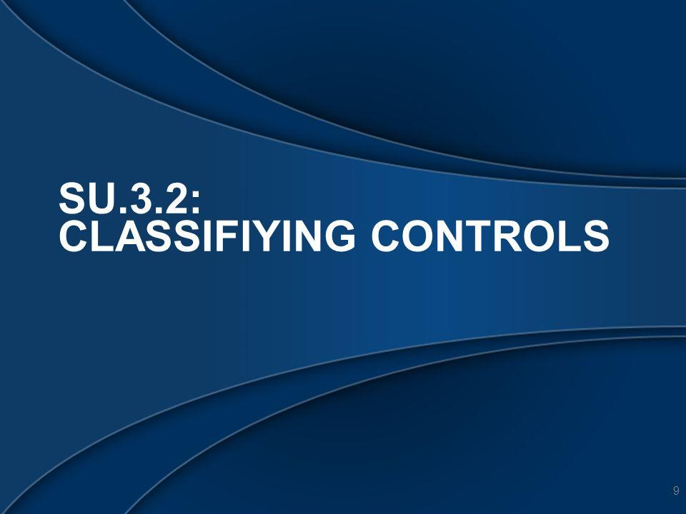 3.2 CLASSIFYING CONTROLS 10 1.