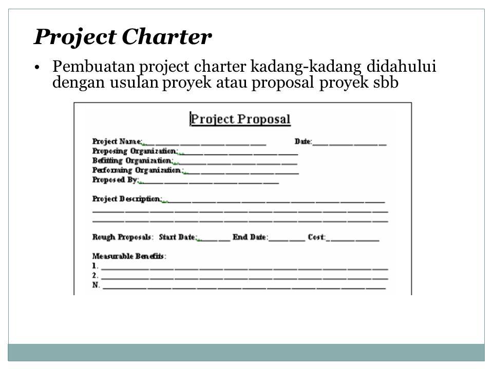 Mengawasi dan Mengendalikan Pekerjaan Proyek Perlakuan untuk mengawasi proses proyek dapat diasosiasikan dengan insialisasi, perencanaan, pengesekusian dan penutupan Pengawasan mencakup pengumpulan, pengukuran, penyebaran informasi kinerja dan taksiran nilai dan trend pada pengaruh peningkatan proses
