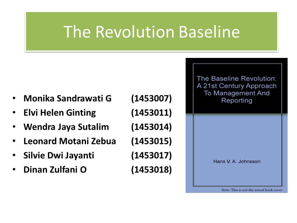 The Revolution Baseline Monika Sandrawati G (1453007) Elvi Helen Ginting (1453011) Wendra Jaya Sutalim(1453014) Leonard Motani Zebua(1453015) Silvie D
