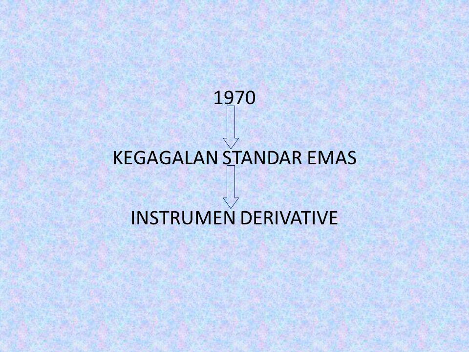 1970 KEGAGALAN STANDAR EMAS INSTRUMEN DERIVATIVE