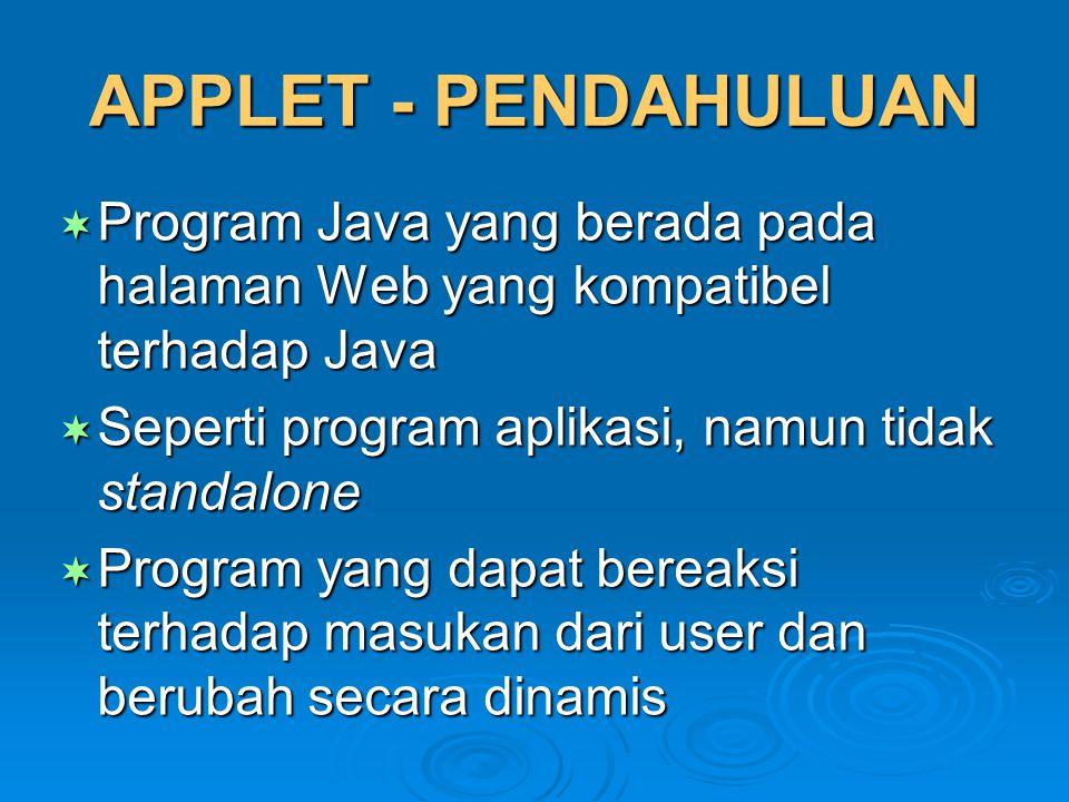 Tampilan MoreHelloApplet (null version)