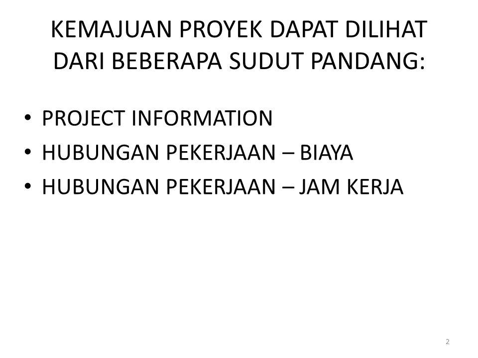 1. PROJECT INFORMATION KLIK MENU PROJECT > PROJECT INFORMATION 3